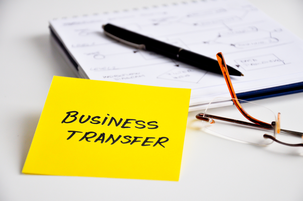 Sticky Note with Business Transfer Written