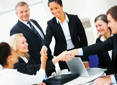 Image of Business Colleagues Shaking Hands
